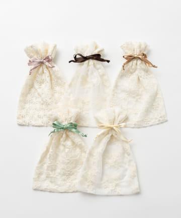 Lattice(ラティス) 【WEB限定】レース巾着ポーチM
