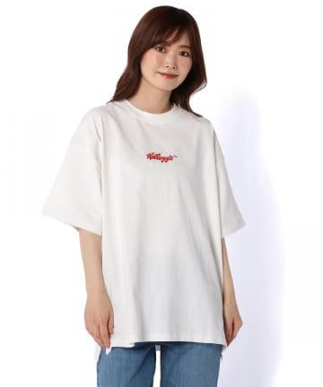 Daily russet(デイリー ラシット) 【Kelloggs】フロント刺繍オーバーTシャツ