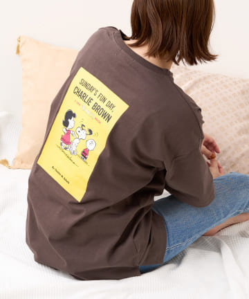 Daily russet(デイリー ラシット) 【SNOOPY】スヌーピー バックプリント オーバーTシャツ