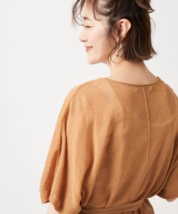 un dix cors(アンディコール) 【垣内彩未さん着用アイテム】ギマブークレーニットポンチョ