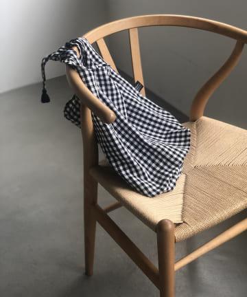 un dix cors(アンディコール) 【FatimaMorocco(ファティマモロッコ)】ギンガムチェック巾着