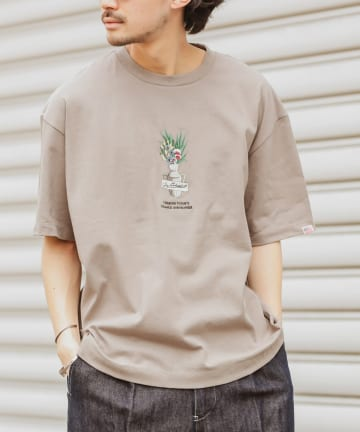CIAOPANIC TYPY(チャオパニックティピー) 【USAコットン】スローハピネス刺繍プリントTEE