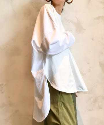 BEARDSLEY(ビアズリー) 布帛コンビカットソー