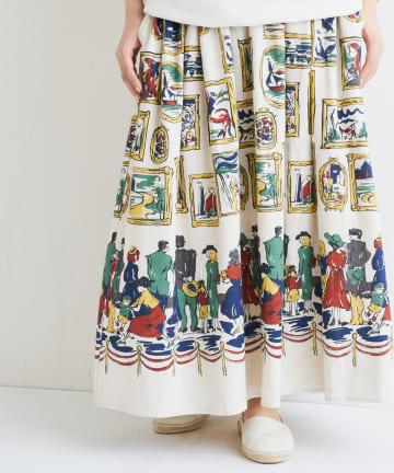 BEARDSLEY(ビアズリー) ミュージアムプリントスカート