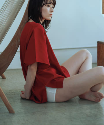 GALLARDAGALANTE(ガリャルダガランテ) 【CASA】ピケ製品染めビッグTシャツ