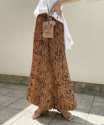 CAPRICIEUX LE'MAGE(カプリシュレマージュ) ゼブラプリーツスカート