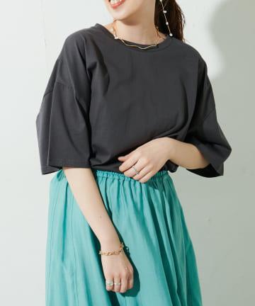 Discoat(ディスコート) 裾ラウンドビッグTシャツ