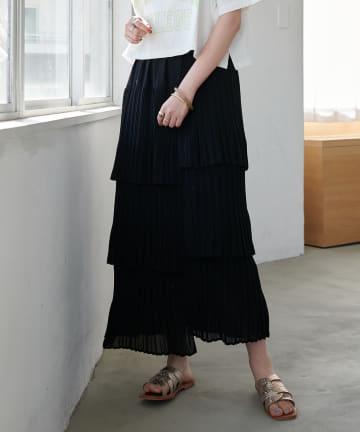 Discoat(ディスコート) ティアードスカート