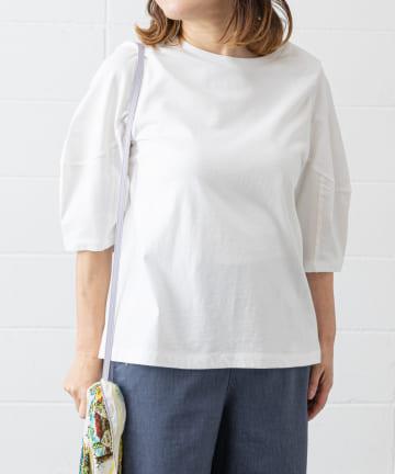 PLUS OTO.HA(プラス オトハ) やわらかコットンパフTシャツ