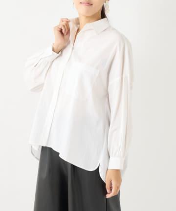 PLUS OTO.HA(プラス オトハ) オトハ抜き衿美人プレーンシャツ