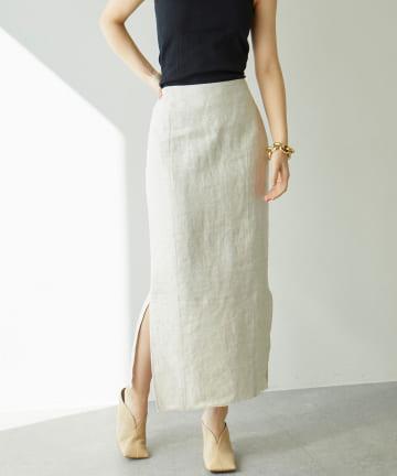 GALLARDAGALANTE(ガリャルダガランテ) キャンバスリネンスカート
