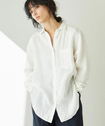 GALLARDAGALANTE(ガリャルダガランテ) フレンチリネンワッシャーシャツ