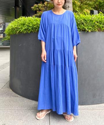 Omekashi(オメカシ) バックオープンティアードワンピース