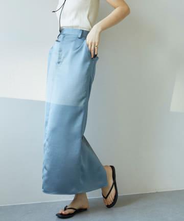 GALLARDAGALANTE(ガリャルダガランテ) サテンタイトスカート
