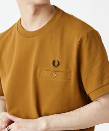 Discoat(ディスコート) 【FRED PERRY】 POCKET DETAIL PIQUE SHIRT