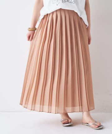BONbazaar(ボンバザール) オーガンジー変形プリーツスカート