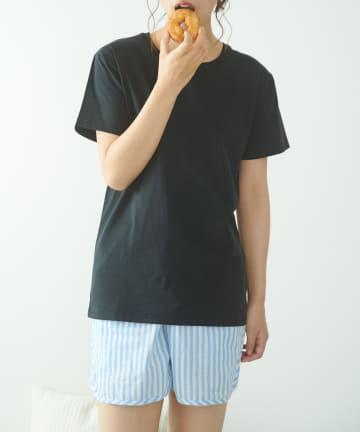 TERRITOIRE(テリトワール) 【FRUIT OF THE LOOM】LADIES冷感Tシャツストライプパンツ