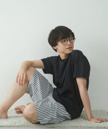 TERRITOIRE(テリトワール) 【FRUIT OF THE LOOM】MENS冷感Tシャツストライプパンツ