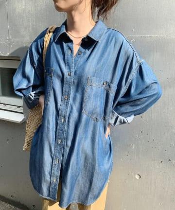 SHENERY(シーナリー) テンセルライクデニムBIGシャツ