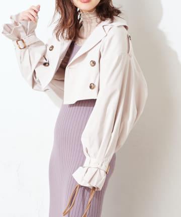 natural couture(ナチュラルクチュール) 【WEB限定】マルチウェイトレンチコート(ビスチェ+スカートセット)