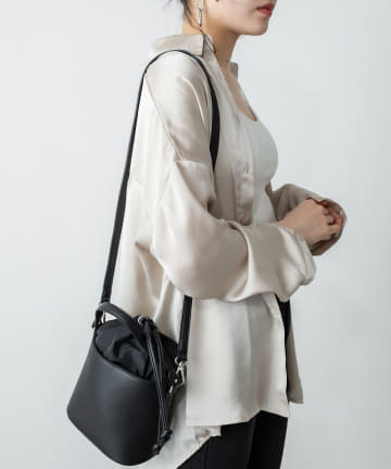 RASVOA(ラスボア) スムース巾着バッグ