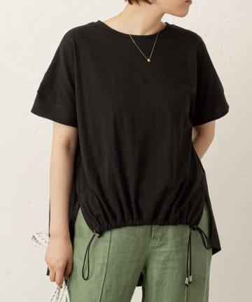 LIVETART(リヴェタート) 【一枚で着映え】バックプリーツTシャツ