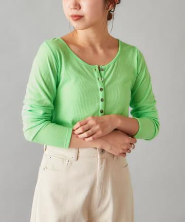 Omekashi(オメカシ) ヘンリーロングTシャツ