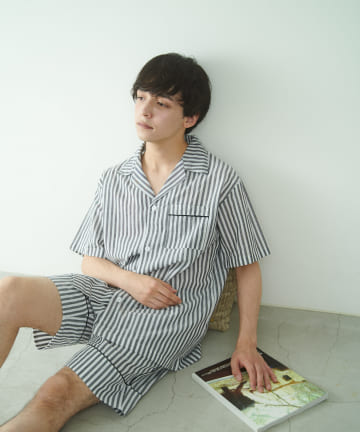 TERRITOIRE(テリトワール) 【FRUIT OF THE LOOM】MENSリラックスコットンパジャマ 半/半