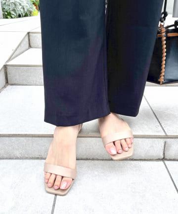 Omekashi(オメカシ) サテンフラットサンダル
