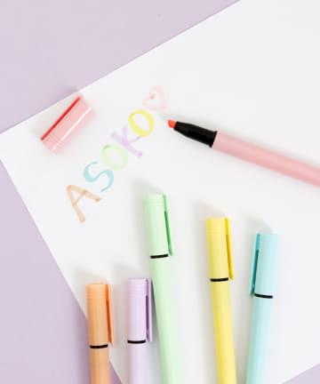 ASOKO(アソコ) マカロンカラー蛍光ペン