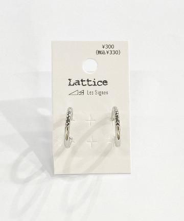 Lattice(ラティス) メッキフープピアス