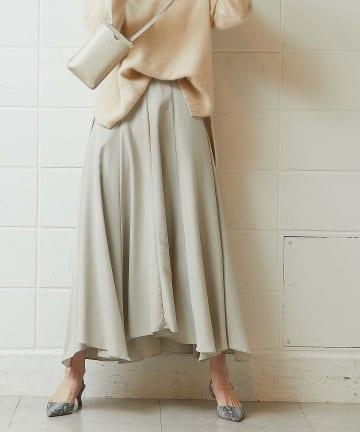 OUVRAGE CLASSE(ウヴラージュクラス) モダールイレギュラーヘムスカート