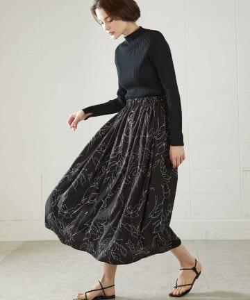 OUVRAGE CLASSE(ウヴラージュクラス) ギャザーマキシ柄スカート