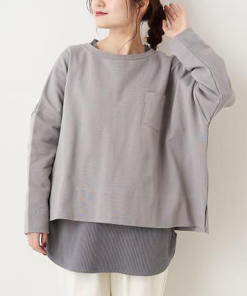 pual ce cin(ピュアルセシン) 【WEB限定】インナーセット裏毛プルオーバー