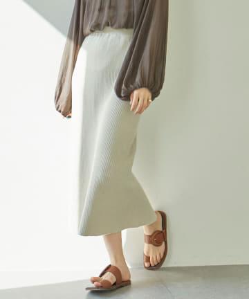 GALLARDAGALANTE(ガリャルダガランテ) リブニットミディスカート