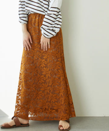 GALLARDAGALANTE(ガリャルダガランテ) レース切替ロングスカート