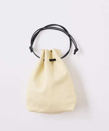 BONbazaar(ボンバザール) レザー巾着バッグ