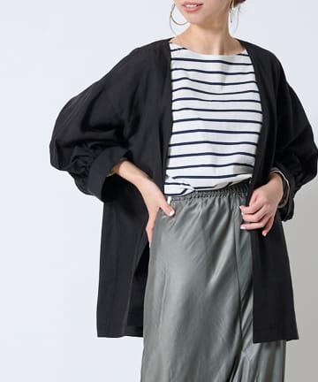 DOUDOU(ドゥドゥ) 【追加予約】【WEB限定】8分袖イージーカフスシャツジャケット