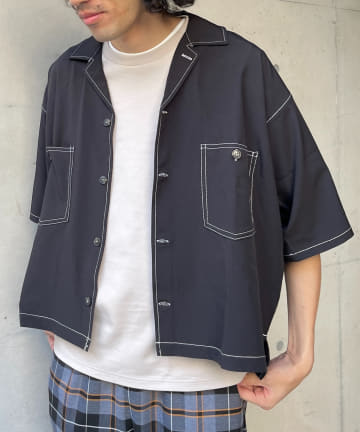 CPCM(シーピーシーエム) 短丈ステッチBIGシャツ