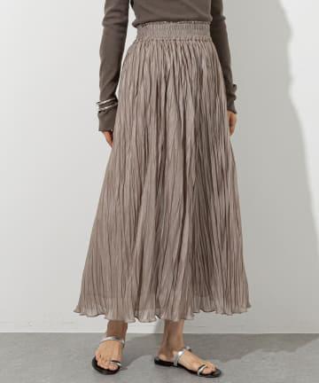 Whim Gazette(ウィム ガゼット) プリーツロングスカート