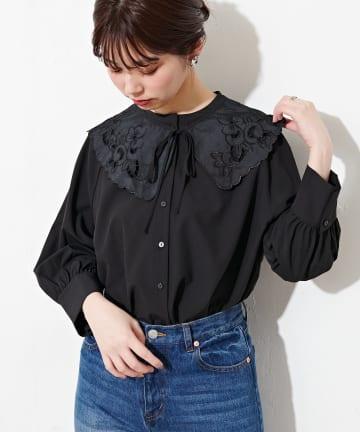 natural couture(ナチュラルクチュール) 【WEB限定】BIGつけ衿おんなのこブラウス