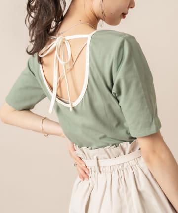 mystic(ミスティック) [mline] WEB限定 配色パイピングTシャツ