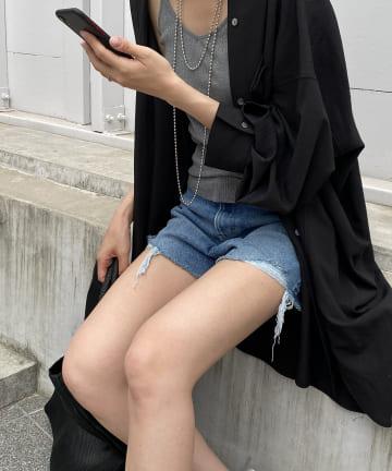 Loungedress(ラウンジドレス) 【YANUK/ヤヌーク】WEB限定 デニムショートパンツ
