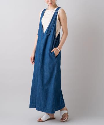 Loungedress(ラウンジドレス) 【YANUK/ヤヌーク】WEB限定 リラックスジャンパースカート