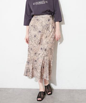 natural couture(ナチュラルクチュール) 線画ジャガードスカート