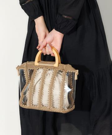 natural couture(ナチュラルクチュール) パッチワークビニールバッグ
