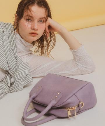 natural couture(ナチュラルクチュール) 太ショルダーボストンバッグ