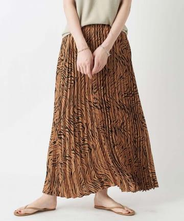 RIVE DROITE(リヴドロワ) 【大人女子が着こなす】ゼブラ柄プリーツスカート