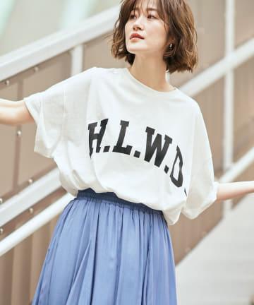 RIVE DROITE(リヴドロワ) 【今季らしいロゴアイテム】H.L.W.DロゴTシャツ