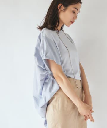 La boutique BonBon(ラブティックボンボン) 【手洗い可】バックボリュームTシャツ